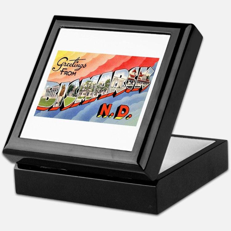 Bismarck North Dakota Greetings Keepsake Box