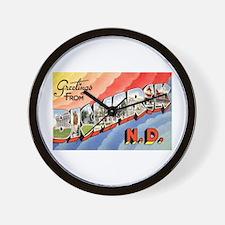 Bismarck North Dakota Greetings Wall Clock