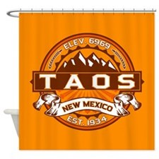 Taos Tangerine Shower Curtain