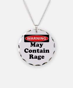 Warning May Contain Rage Necklace
