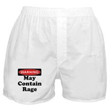 Warning May Contain Rage Boxer Shorts