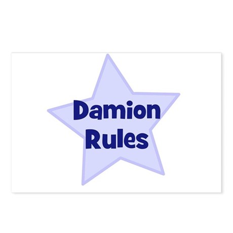 Damion Rules Postcards (Package of 8)