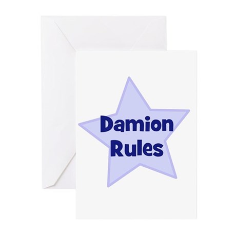 Damion Rules Greeting Cards (Pk of 10)