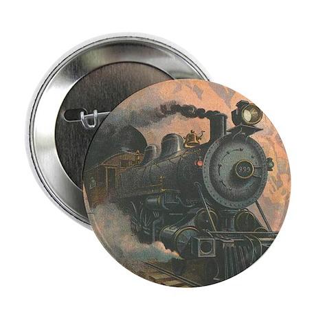 Antique Train Victorian Steam Engine Vintage Butto