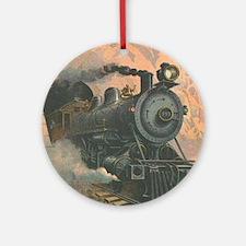 Antique Train Victorian Steam Engine Vintage Ornam