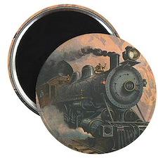 """Antique Train Victorian Steam Engine Vintage 2.25"""""""
