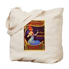 Absinthe Poster Vintage French Ad Tote Bag