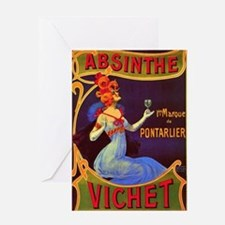 Absinthe Poster Vintage French Ad Greeting Card