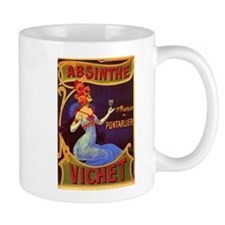Absinthe Poster Vintage French Ad Small Mugs