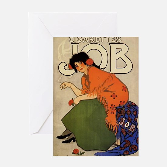 Gypsy Woman French Cigarette Ad Greeting Card