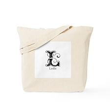 Leslie: Fancy Monogram Tote Bag