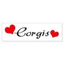 Love Corgis Bumper Stickers