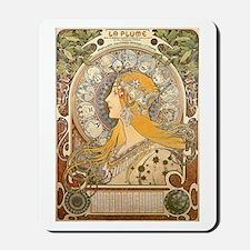 Mucha La Plume Art Nouveau Mousepad