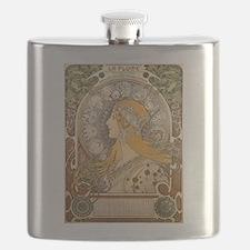 Mucha La Plume Art Nouveau Flask