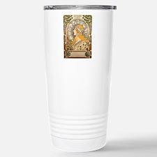 Mucha La Plume Art Nouveau Travel Mug