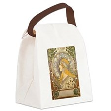 Mucha La Plume Art Nouveau Canvas Lunch Bag