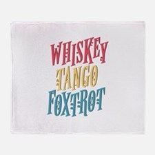 Funny Vacation club Throw Blanket