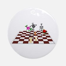 Chess Skeletons Ornament (Round)