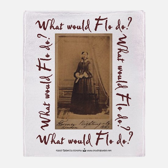 What would Flo Do? Throw Blanket