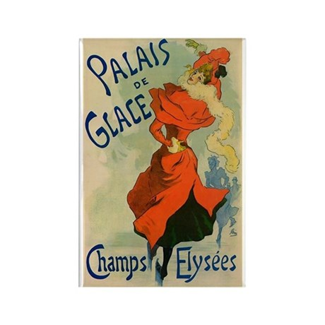 Paris Cabaret Lady in Red Poster Rectangle Magnet