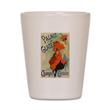 Paris Cabaret Lady in Red Poster Shot Glass