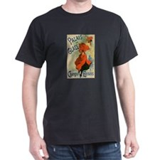 Paris Cabaret Lady in Red Poster T-Shirt