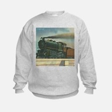 Antique Train Steam Engine Locomotive Vintage Sweatshirt