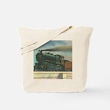 Antique Train Steam Engine Locomotive Vintage Tote