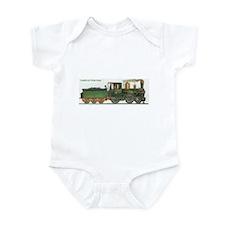 Victorian Train Antique Locomotive Infant Bodysuit