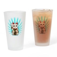 Lucky Cat (Maneki-neko) Drinking Glass