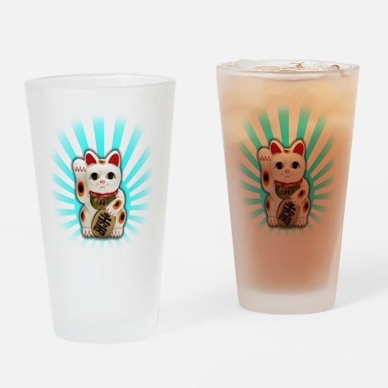 Lucky Cat (Maneki-neko) Drinking Glass