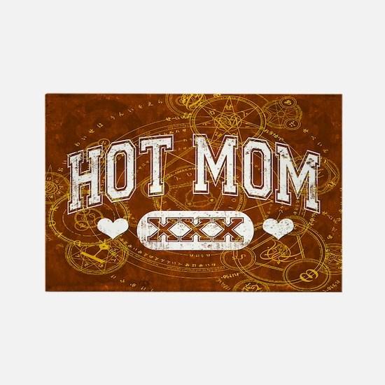 Hot Mom Rectangle Magnet