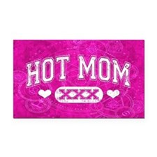 Hot Mom Rectangle Car Magnet