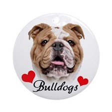Love English Bulldog Ornament (Round)
