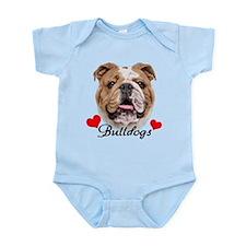 Love English Bulldog Infant Bodysuit