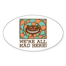 Cheshire Cat Oval Decal