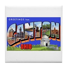 Canton Ohio Greetings Tile Coaster