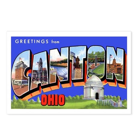 Canton Ohio Greetings Postcards (Package of 8)