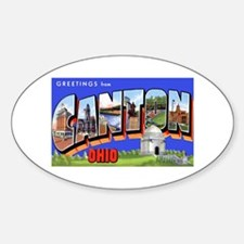 Canton Ohio Greetings Oval Decal