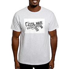 Czech Mate CZ75 Gun Ash Grey T-Shirt