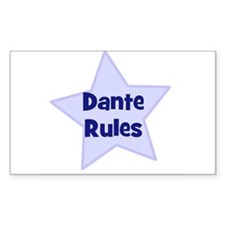 Dante Rules Rectangle Decal