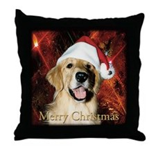 2013 Golden Retriever Christmas Throw Pillow