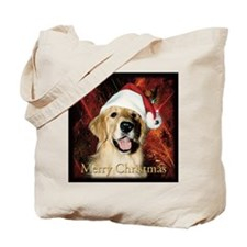 2013 Golden Retriever Christmas Tote Bag