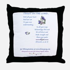 Trust In The Lord2 Throw Pillow