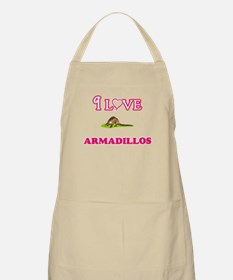 I Love Armadillos Light Apron