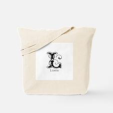 Lizette: Fancy Monogram Tote Bag