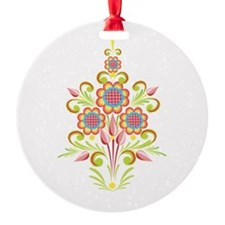 Formal Tole Flowers Ornament