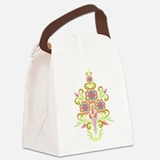 Formal Tole Flowers Canvas Lunch Bag