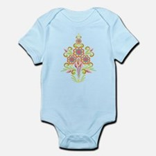 Formal Tole Flowers Infant Bodysuit