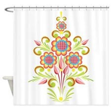Formal Tole Flowers Shower Curtain